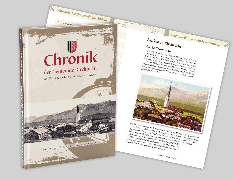 Buchprojekt Chronik Kirchbichl