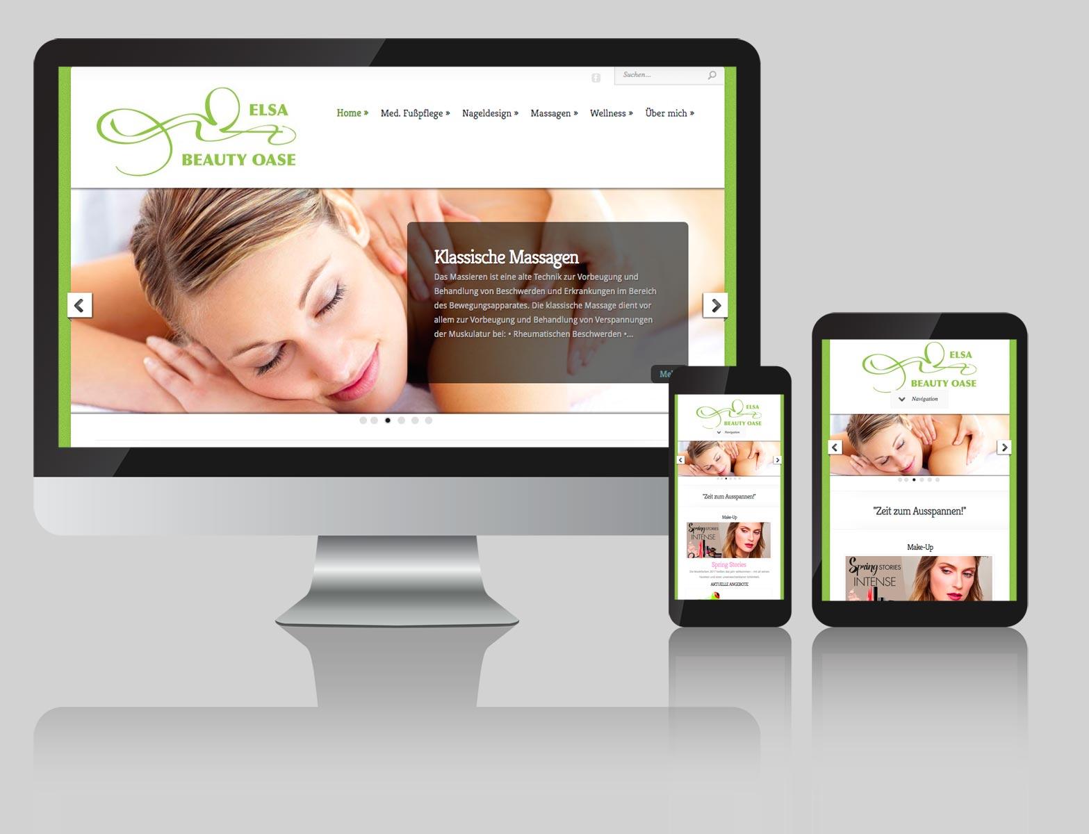Webdesign Beauty Oase