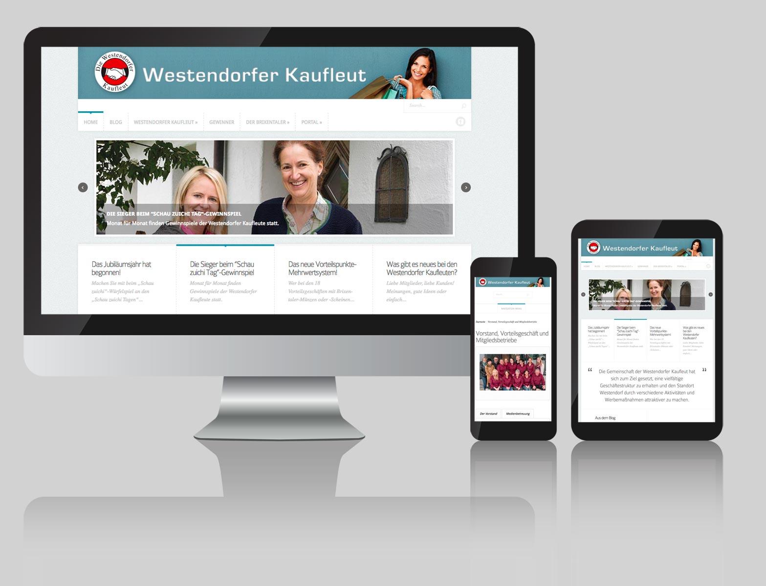 Webdesign Westendorfer Kaufleut